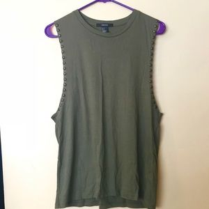 Olive Green Tank Top
